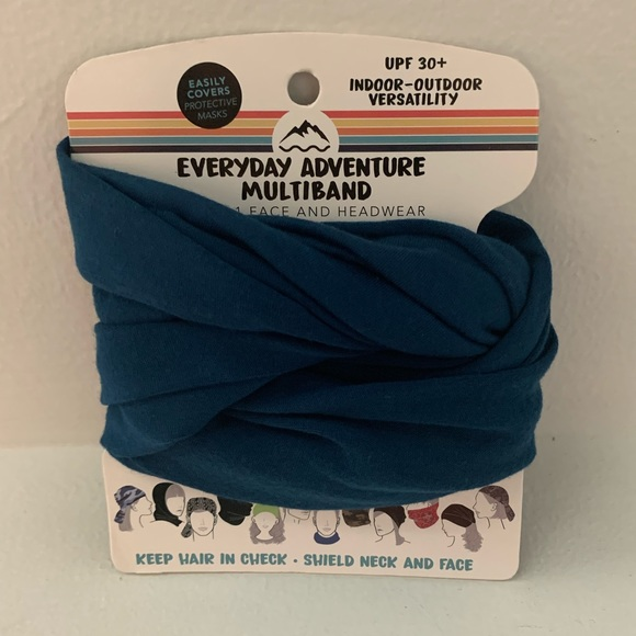 Multi use - wrap, band, scarf - Teal - New